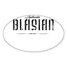 Authentic Blasian Oval Sticker (10 pk)