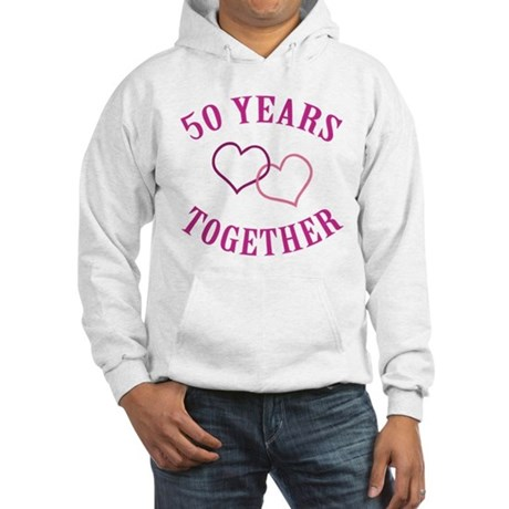 50th Anniversary Two Hearts Hooded Sweatshirt