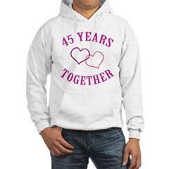 45th Anniversary Two Hearts Hoodie