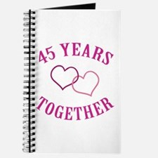 45th Anniversary Two Hearts Journal
