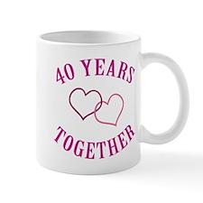 40th Anniversary Two Hearts Mug