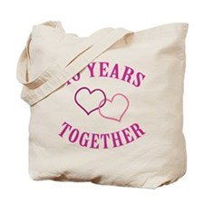 40th Anniversary Two Hearts Tote Bag