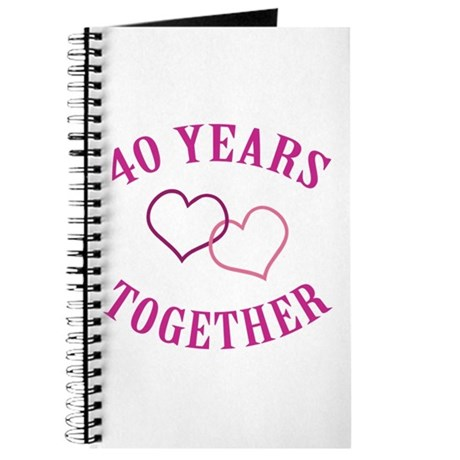 40th Anniversary Two Hearts Journal