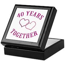 40th Anniversary Two Hearts Keepsake Box