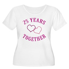 25th Anniversary Two Hearts T-Shirt
