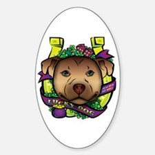 Lucky Dog Oval Decal