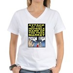 Invisible Hand Women's V-Neck T-Shirt