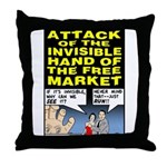 Invisible Hand Throw Pillow