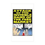 Invisible Hand Rectangle Sticker 10 pk)