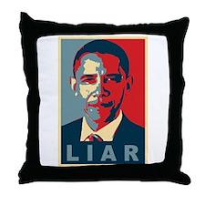 Obama Is A Liar Throw Pillow