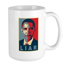 Obama Is A Liar Mug