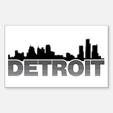 Detroit Skyline Rectangle Decal