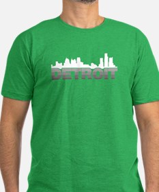 Detroit Skyline Men's Fitted T-Shirt (dark)
