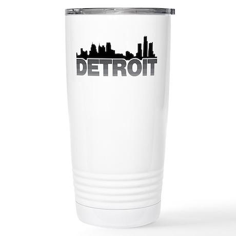 Detroit Skyline Stainless Steel Travel Mug