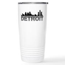 Detroit Skyline Travel Mug