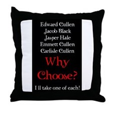 Why Choose? Red Throw Pillow
