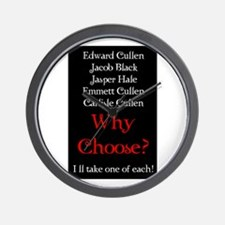 Why Choose? Red Wall Clock