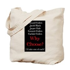 Why Choose? Red Tote Bag