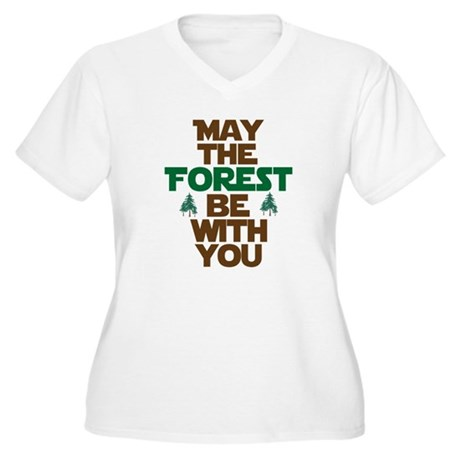 May The Forest Be With You Women's Plus Size V-Nec