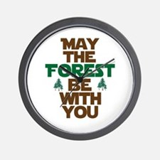 May The Forest Be With You Wall Clock