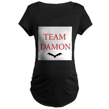 Team Damon Bat Maternity Dark T-Shirt