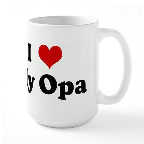 I Love My Opa Large Mug