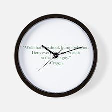 Textbook Behavior Wall Clock