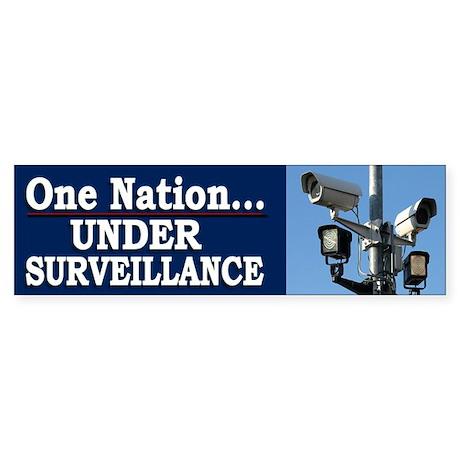 Under Surveillance - Bumper Sticker