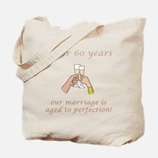 60th Anniversary Wine glasses Tote Bag