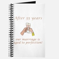 55th Anniversary Wine glasses Journal