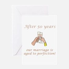 50th Anniversary Wine glasses Greeting Card