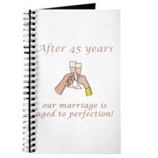 45th Anniversary Wine glasses Journal
