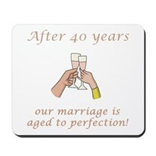 40th Anniversary Wine glasses Mousepad