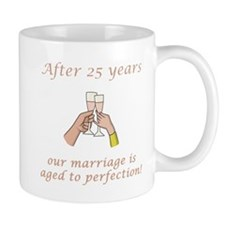 25th Anniversary Wine glasses Mug
