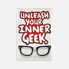 Inner Geek Rectangle Magnet