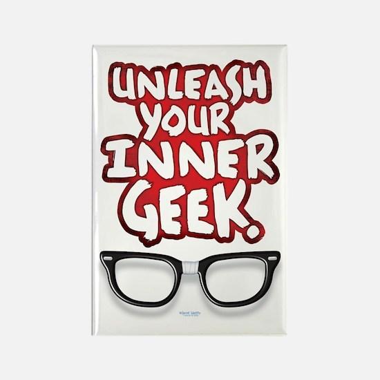 Inner Geek Rectangle Magnet