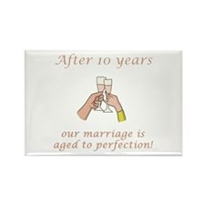10th Anniversary Wine glasses Rectangle Magnet