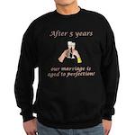 5th Anniversary Wine glasses Sweatshirt (dark)