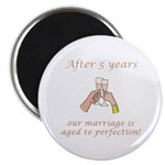 5th Anniversary Wine glasses Magnet