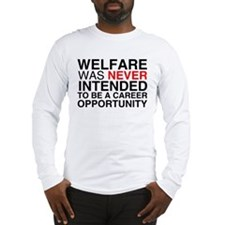 Welfare was never intended to Long Sleeve T-Shirt