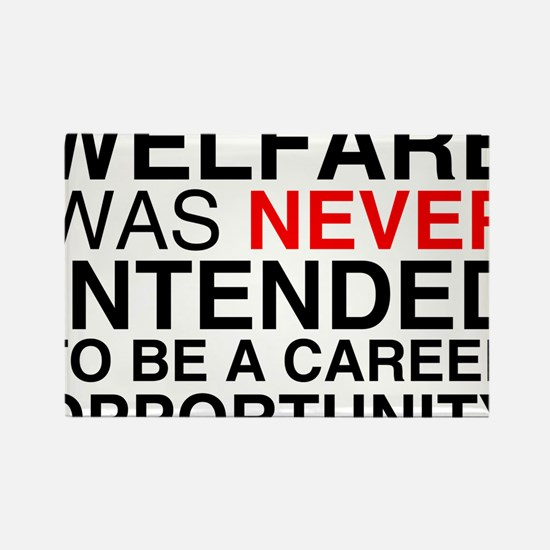 Welfare was never intended to Rectangle Magnet