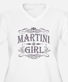 Vintage Martini Girl T-Shirt