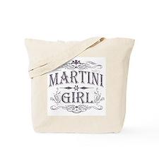 Vintage Martini Girl Tote Bag