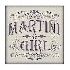 Vintage Martini Girl Tile Coaster
