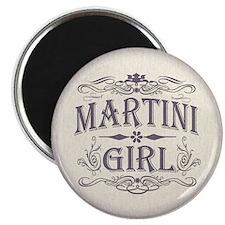 """Vintage Martini Girl 2.25"""" Magnet (100 pack)"""