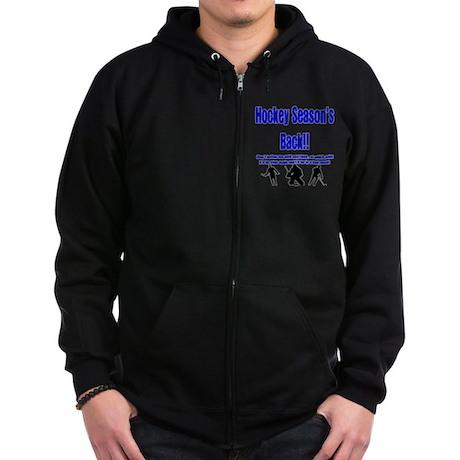 Hockey Season's Back!! Zip Hoodie (dark)