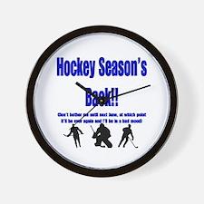 Hockey Season's Back!! Wall Clock