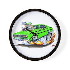 Duster Green Car Wall Clock