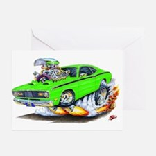 Duster Green Car Greeting Cards (Pk of 10)