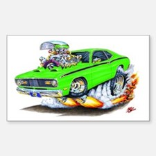 Duster Green Car Rectangle Decal